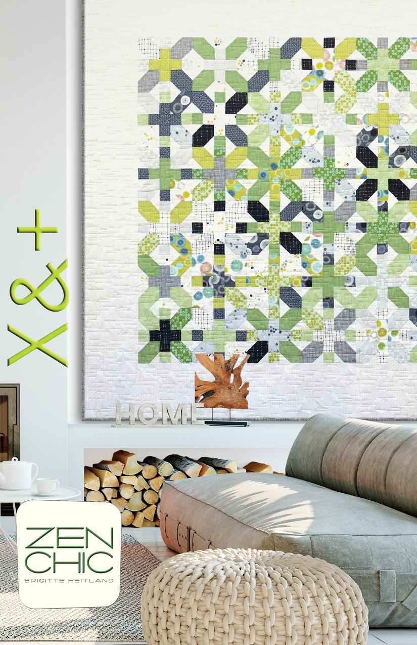 X and + Quilt Kit 83 x 83 featuring Day In Paris by Zen Chic