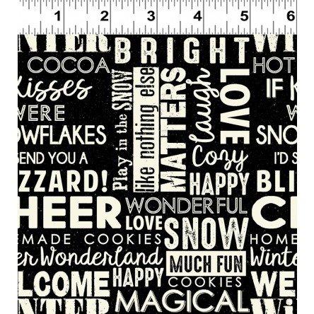 Snow Much Fun! Words Collage Black Y2212-3