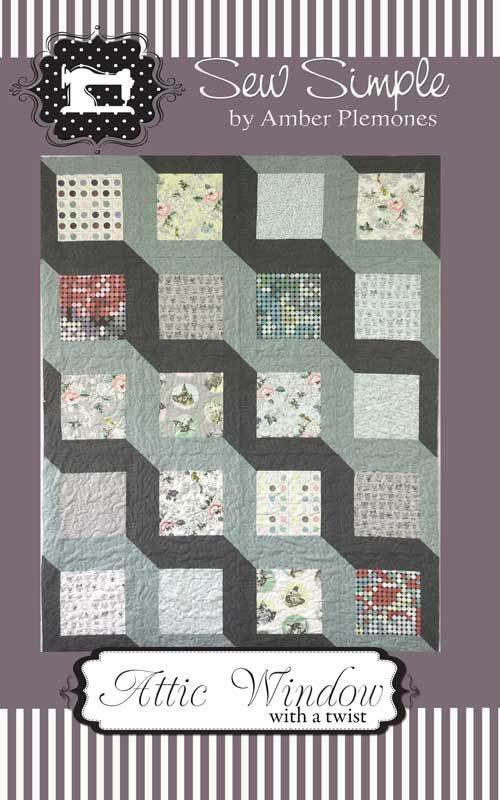 Christmas Attic Window Quilt Pattern.Saturday Sampler Wholesale One Time Fee Block Of Month Bom