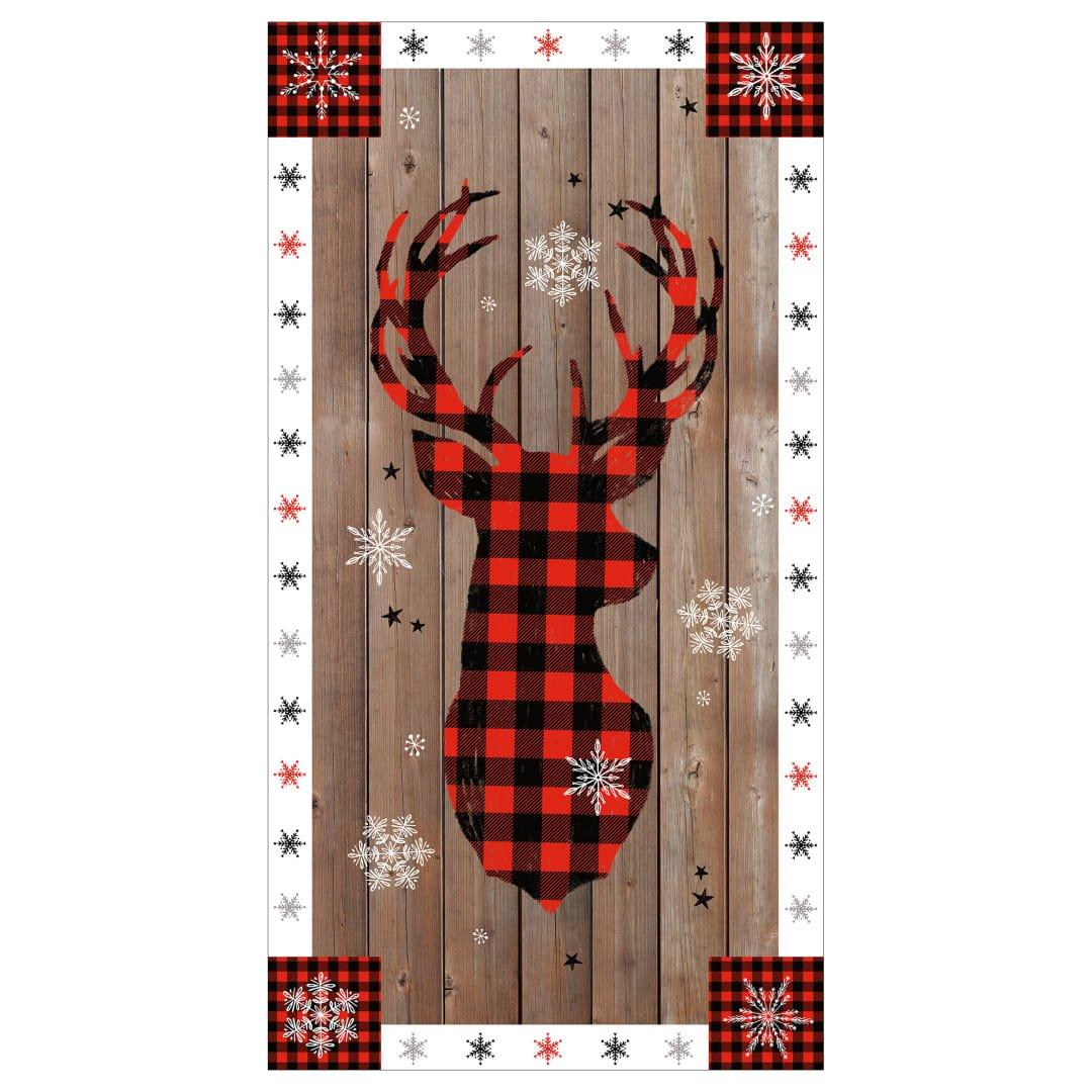 Warm Winter Wishes Deer Panel