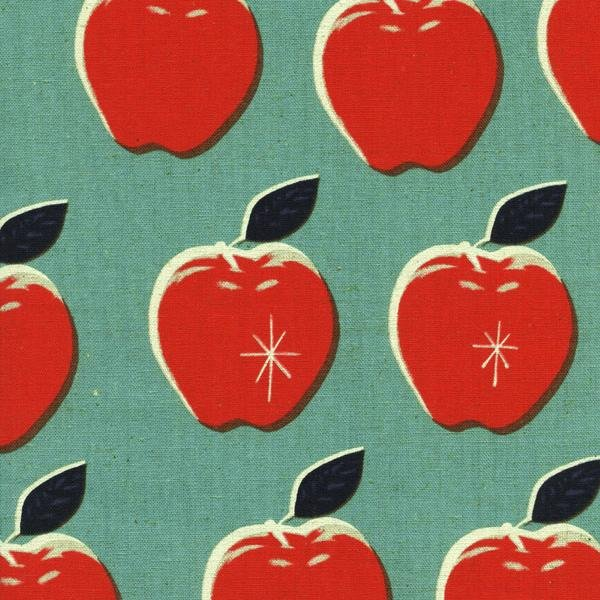 Canvas Apples Blue/Red