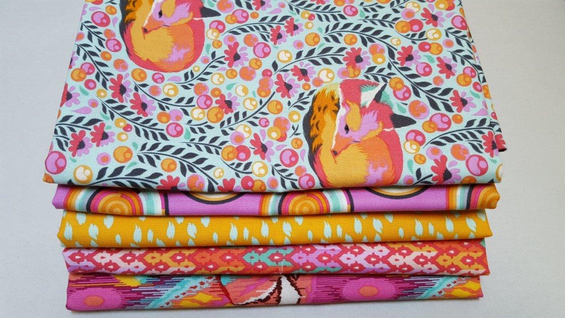 2.5 Yards Total Bali Batiks Premium Batik Half Yard Cuts Pack of 5