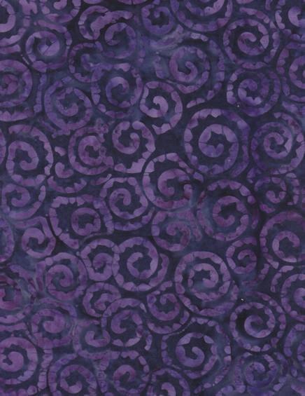 Anthology Batiks - Purple Swirls