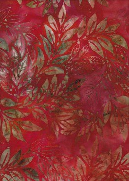 Anthology Batiks -The Rayon Collection - Leaves Red