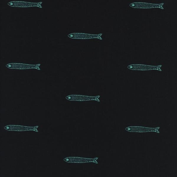 From Porto With Love: Fishies in Teal - Cotton Lawn