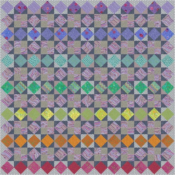 Kaffe Quilt Along Sunset Version