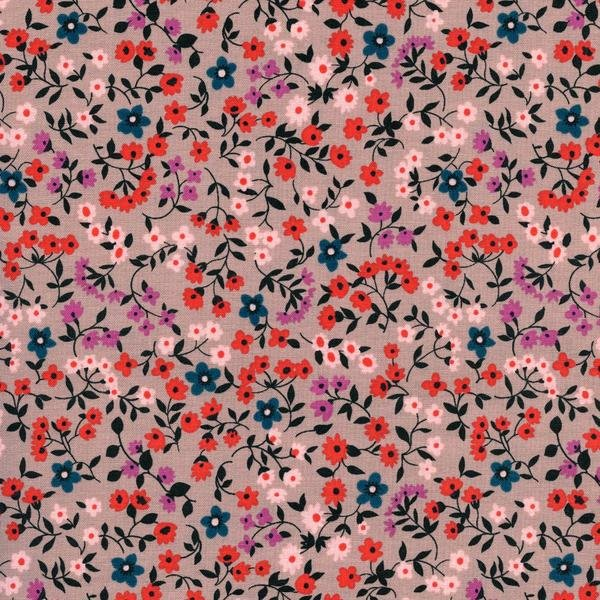 Clothesline Floral Red