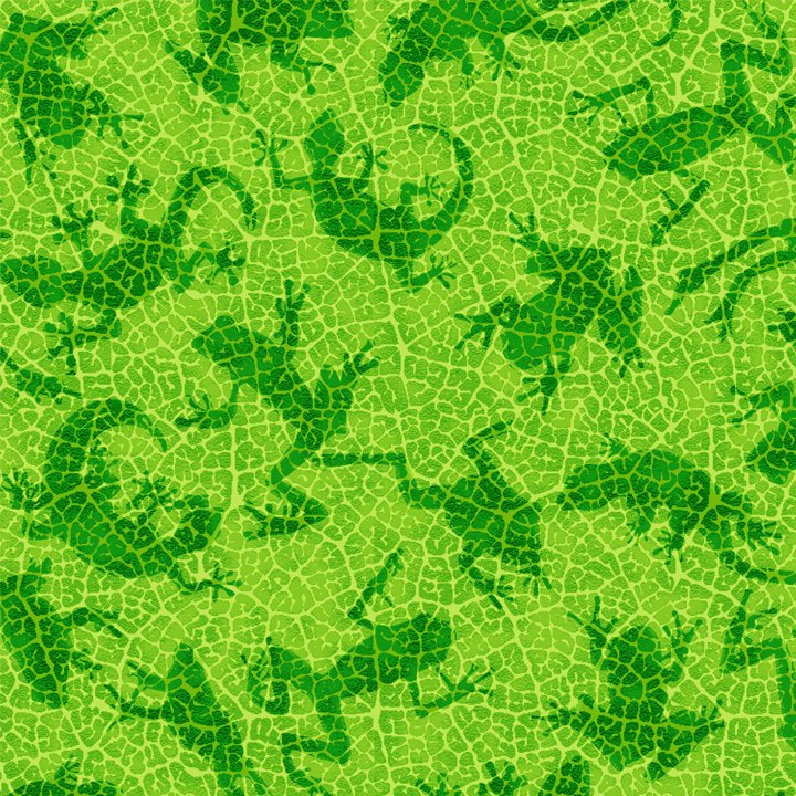 Rainforest Romp - Lizard and Frog Tonal Green