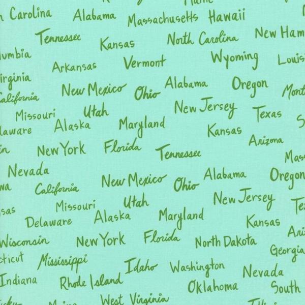 States on Aqua