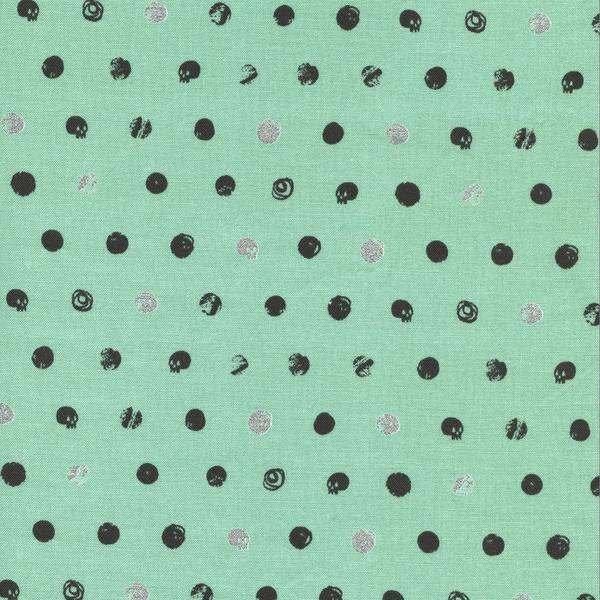 Skull Dot Metallic Mint