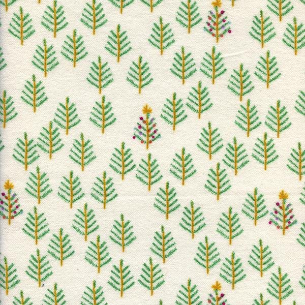 Tinsel Flannel: Christmas Forest White