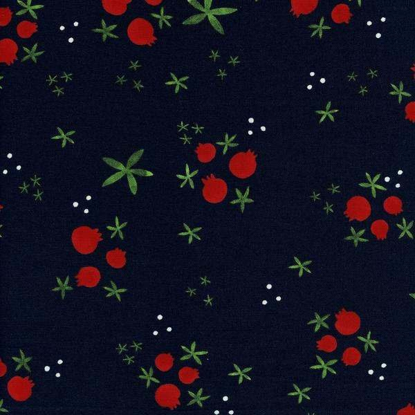Tinsel: Winter Pomegranate in Navy