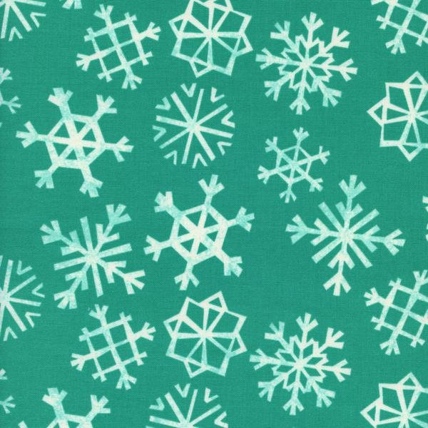 Snowflakes in Teal