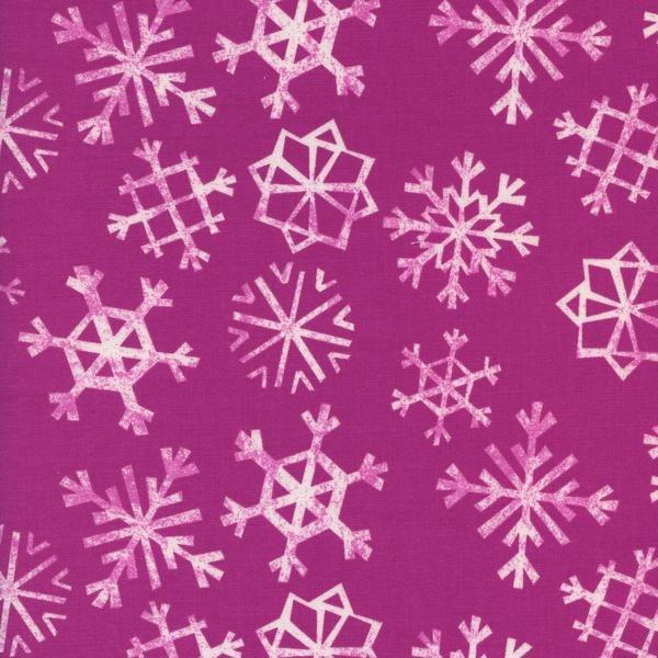 Snowflakes in Grape