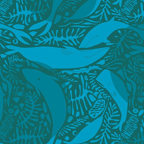 Natural History: Whales in Teal