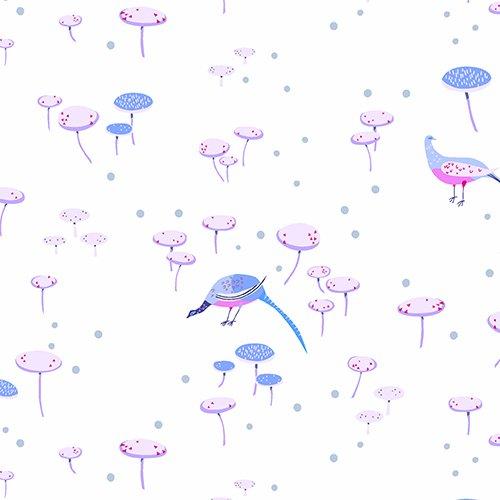 The Lovely Hunt - Toadstools in White / Light Blue