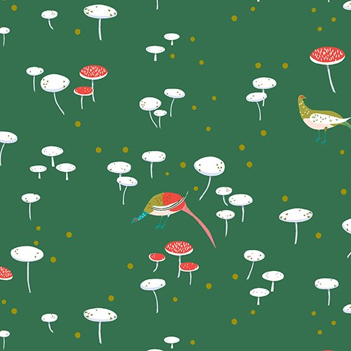 The Lovely Hunt - Toadstools in Green