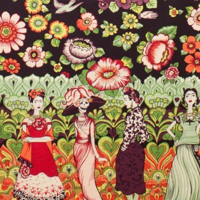 Alexander Henry: Frida La Catrina in Dark Eggplant