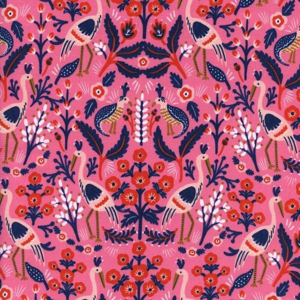 Les Fleurs: Tapestry in Rose
