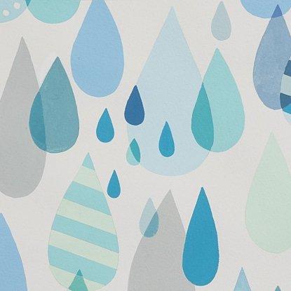 Alexander Henry: Raindrops Blue Tonal