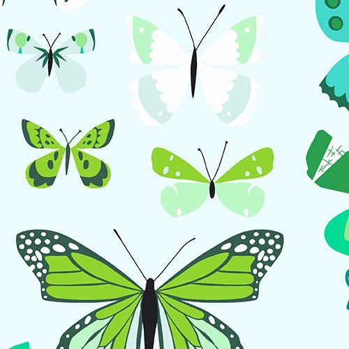 Natural History: Lepidopterist in Green Butterfly