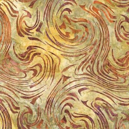 Elementals Batiks: Whirlpool Tawny