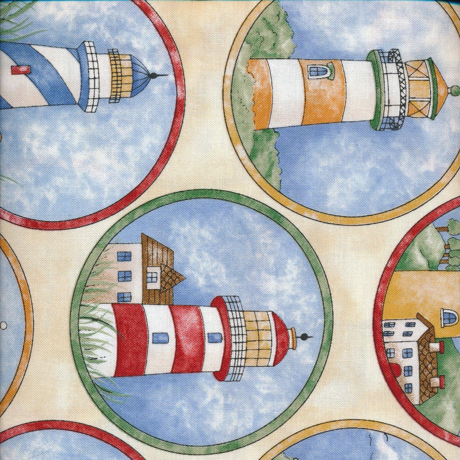 lighthouses on cream