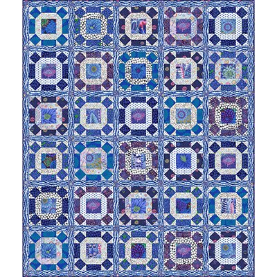 Gathering No Moss Quilt Kit in Delft