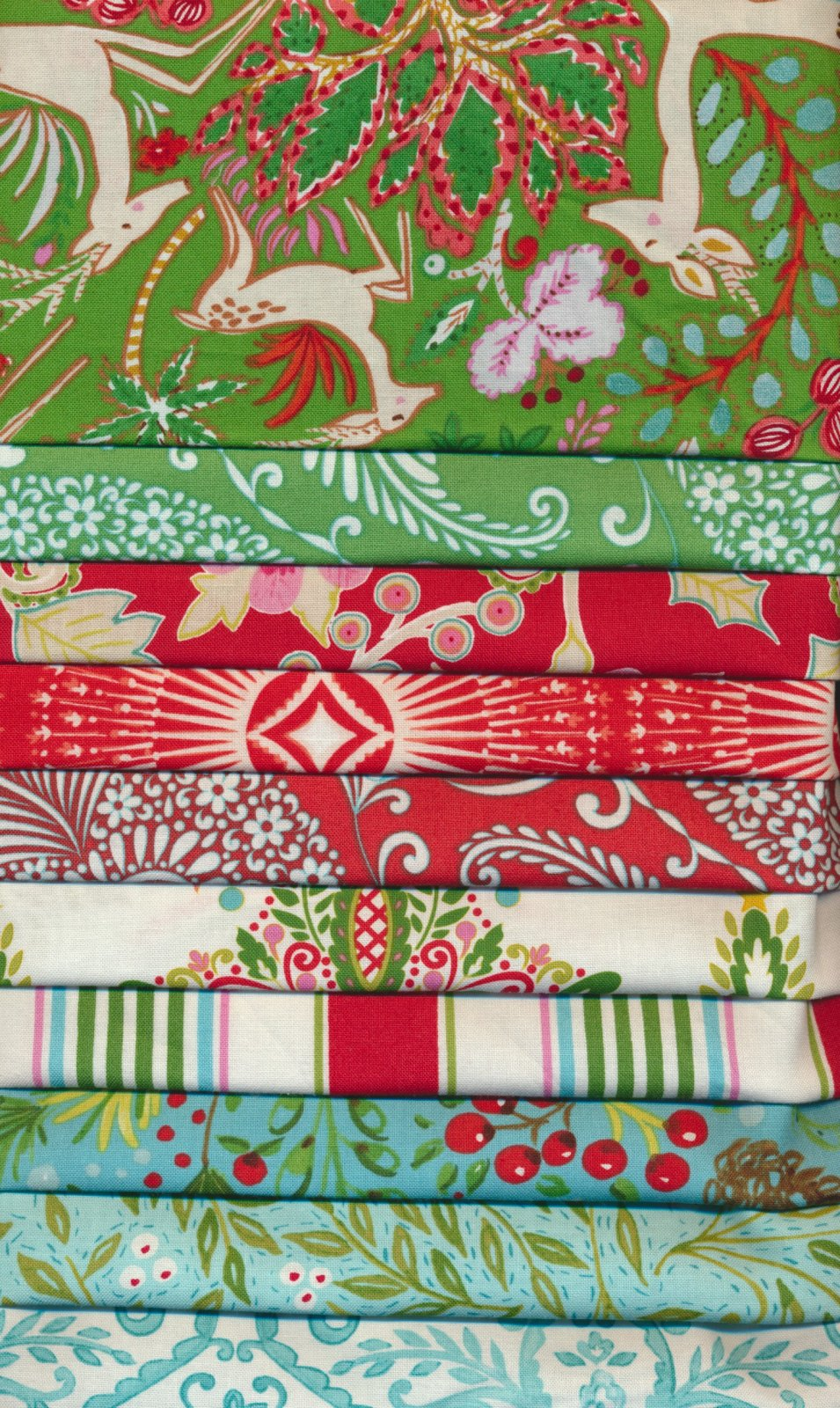 Dena Designs Christmas 10 Fat Quarters