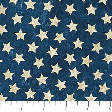 Stars and Stripes Flannel: Stars on Navy Blue