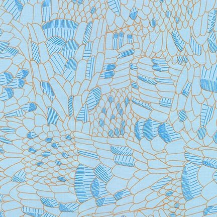 Gleaned: Scales in Spa Blue