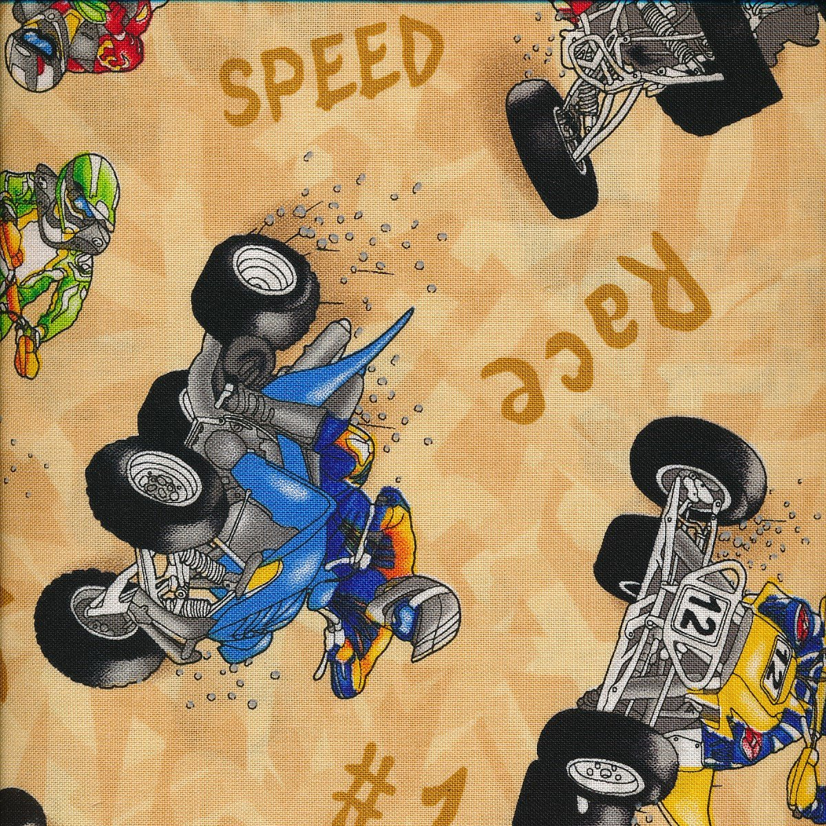 ATV  race on brown