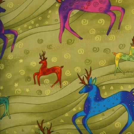 Laurel Burch Holiday Celebrations Reindeer Olive