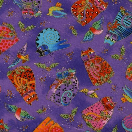 Holiday Celebrations 804-28 Cats Purple