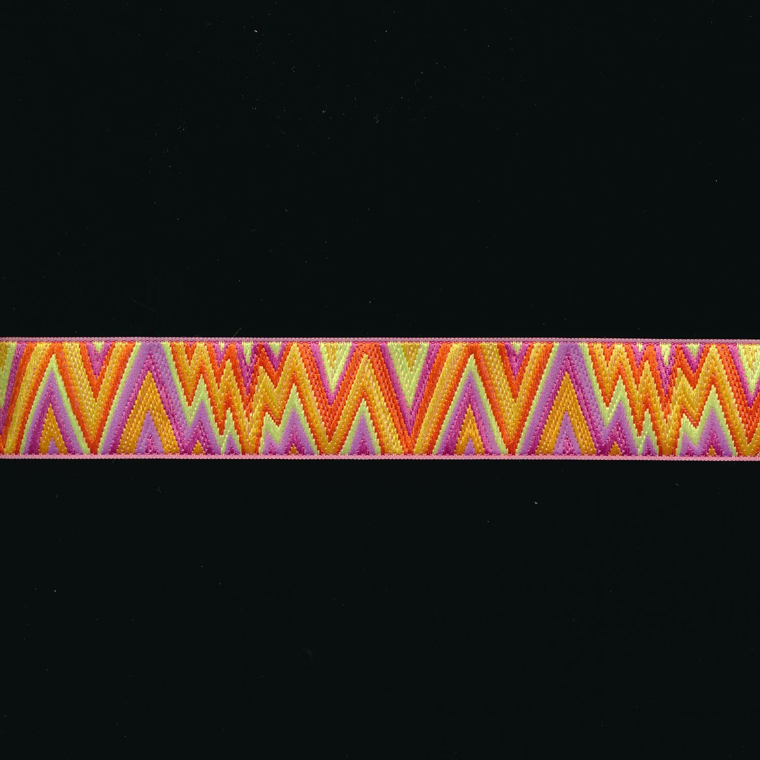 Kaffe Fassett Flame Stitch Ribbon in Orange/Yellow 7/8