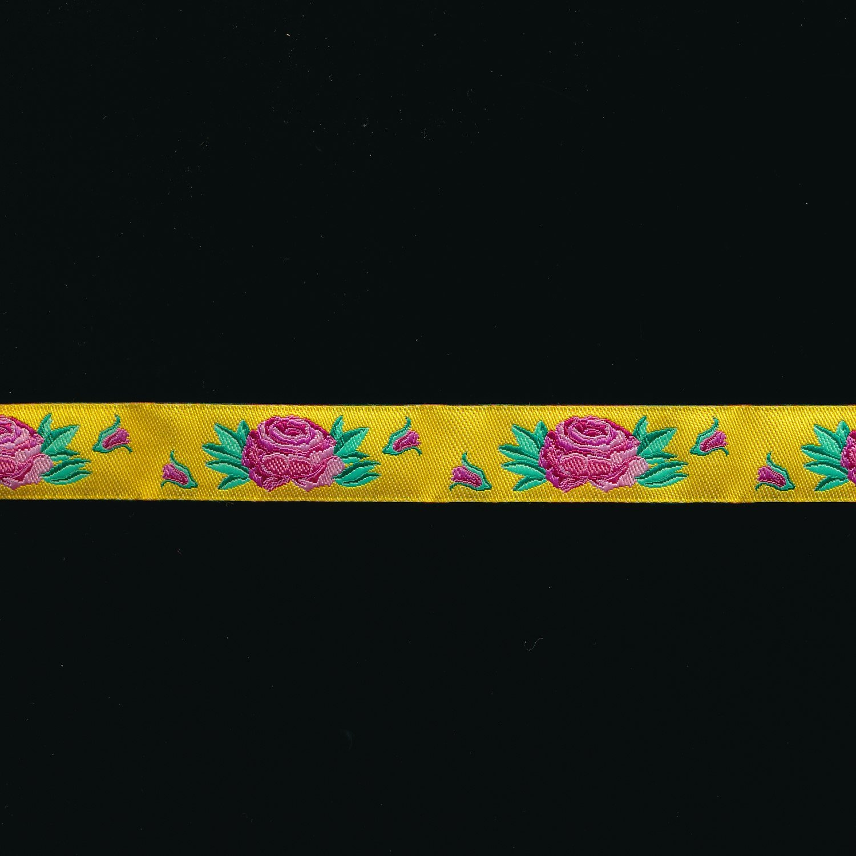 Kaffe Fassett Ribbon Spanish Rose in Yellow 5/8
