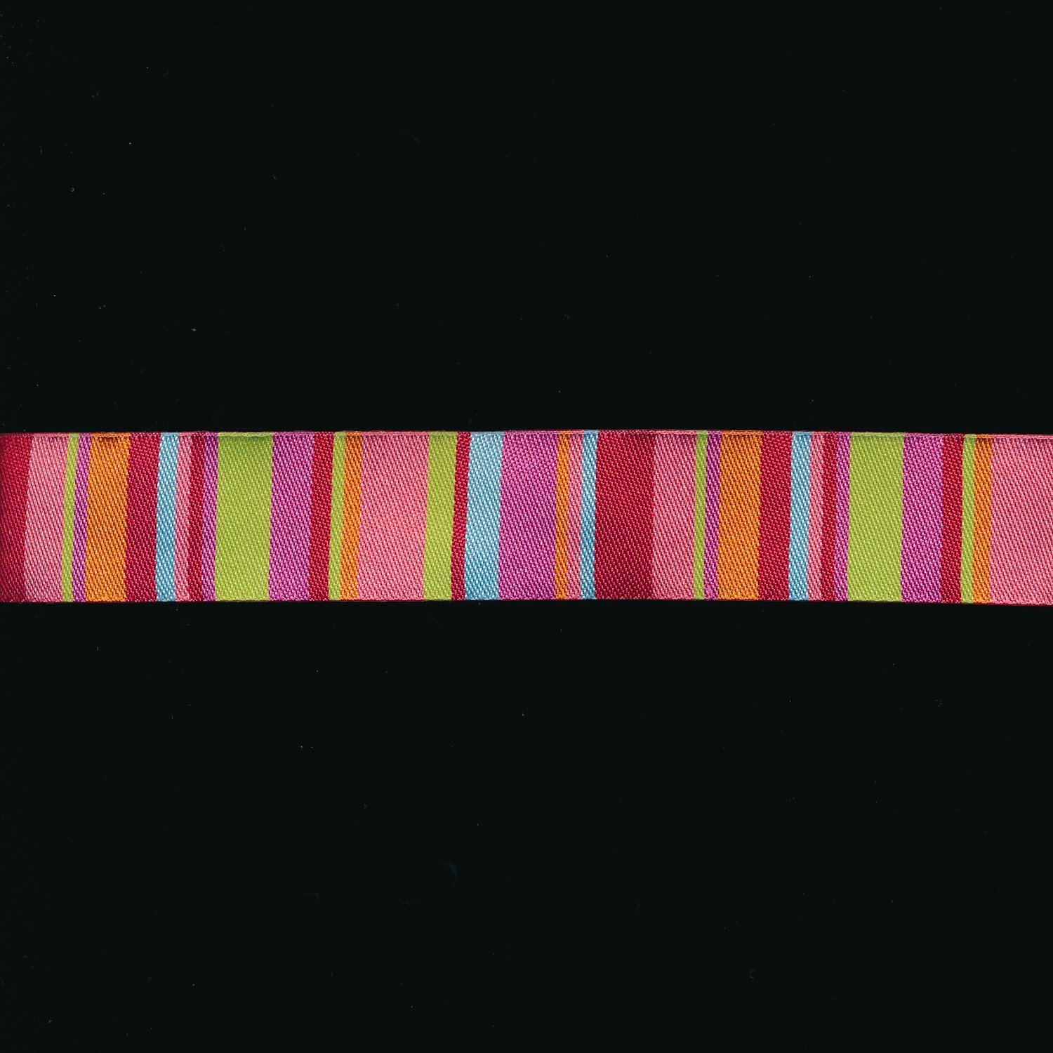 Kaffe Fassett Stripe Ribbon in Lime and Coral