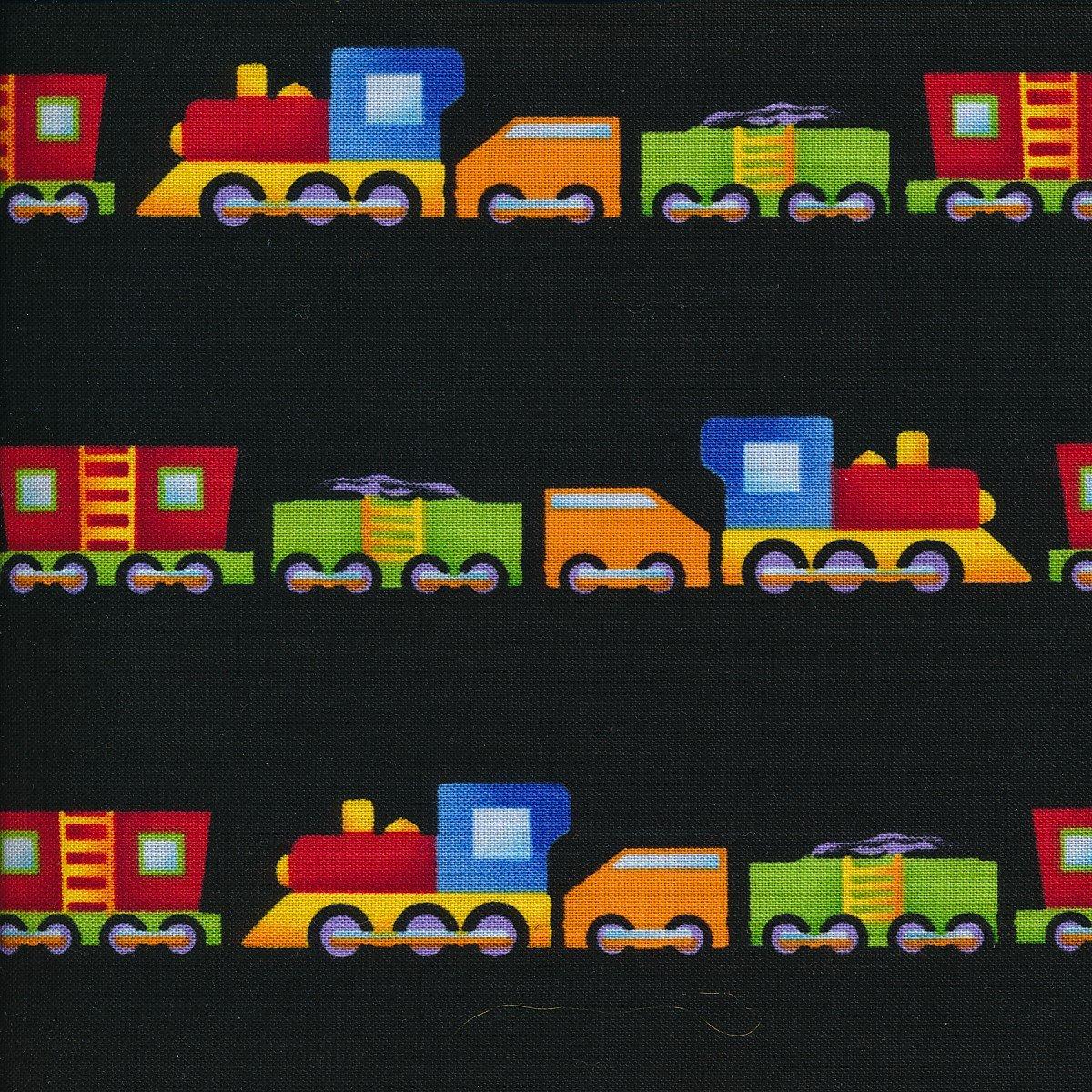 trains on black