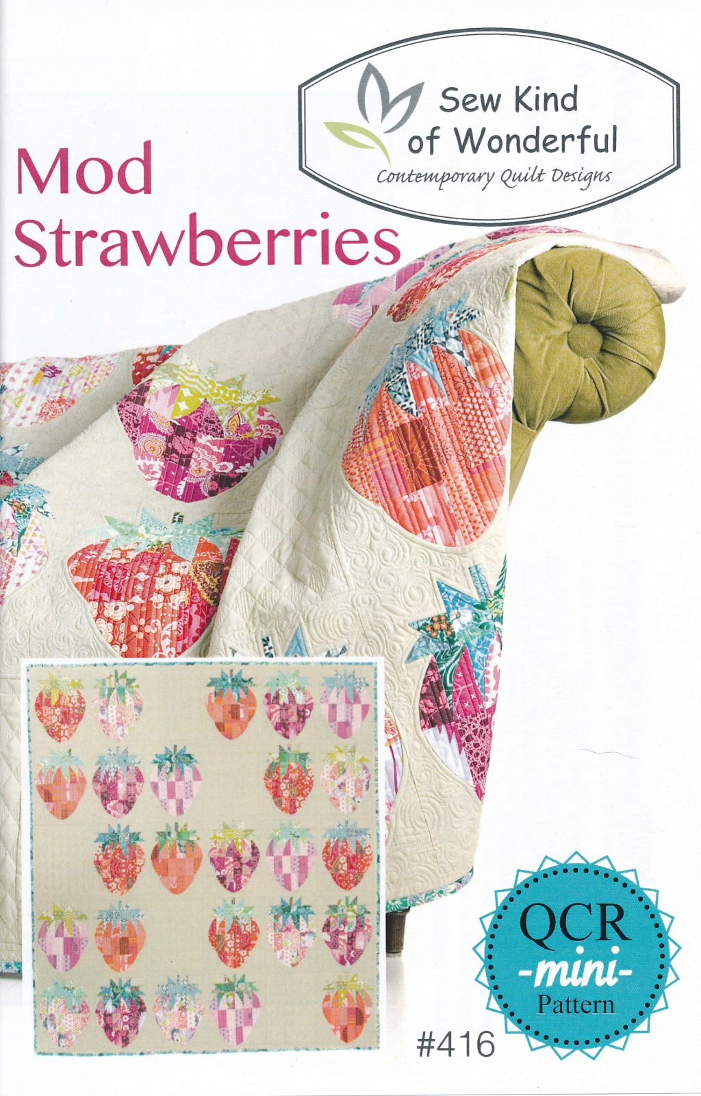Mod Strawberries Pattern