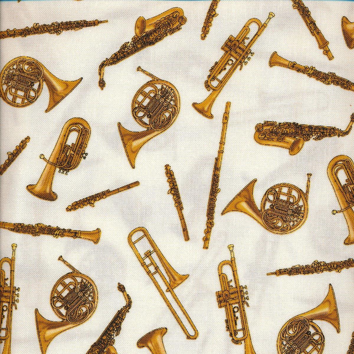 Brass Instruments on Cream