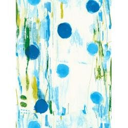 flower rain on blue