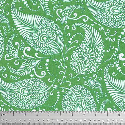 Merry Mistletoe: Paisley in Green