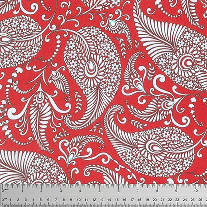 Merry Mistletoe: Paisley in Red