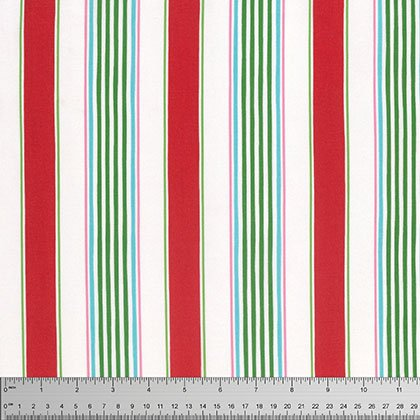 Merry Mistletoe: Linen Stripe Red