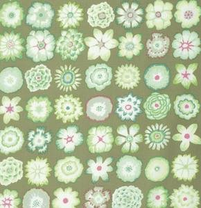 Button Flowers in Green