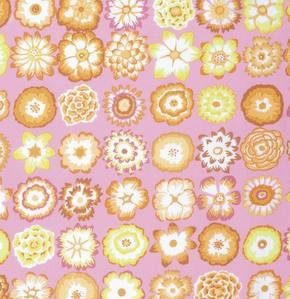 Button Flowers in Pink