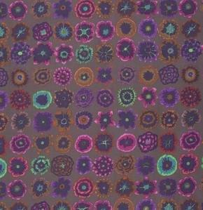 Button Flowers in Prune