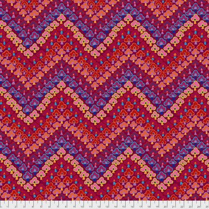 Kaffe Fassett Trefoil in Red