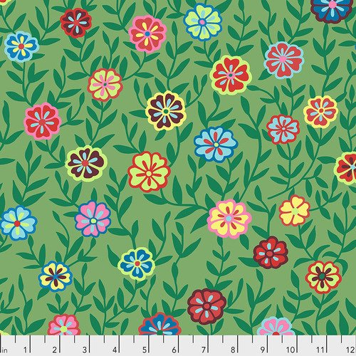 Kaffe Fassett Busy Lizzy in Green