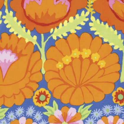 Artisan: Embroidered Flower Border in Orange